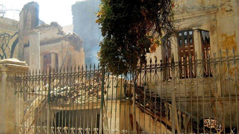 El palacio de Makram Ebeid, en Qena, fue incendiado