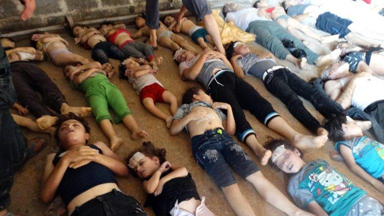 El 21 de agosto, fuerzas leales al dictador Al Assad asesinaron con gas tóxico a cientos de civiles, entre ellos más de 300 niños