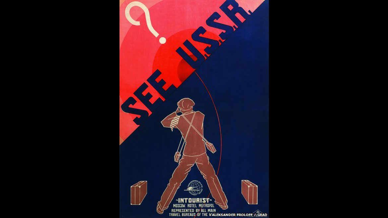 La oficina de turismo estatal, Intourist, fue creada sieteaños después de la formación del bloque socialista. La misión era atraerdivisas para ayudar a una economía soviética en ciernes, explicó a la cadena BBCElena Sudakova, curadora de una exhibición de afiches promocionales en Londres