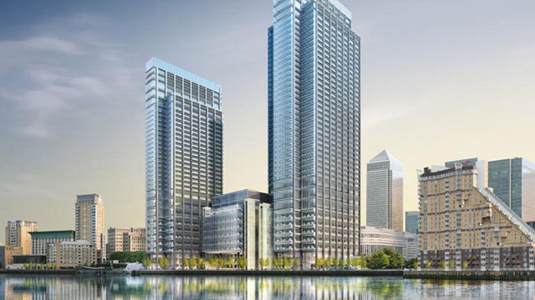 Diseño de Rogers: Canary Wharf Riverside South en Londres