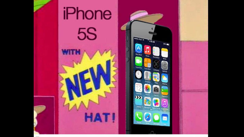 Un usuario de Twitter también se sumó a las burlas y a través de una imagen, graficó las  novedades del iPhone 5S