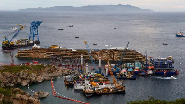 Las tareas de rescate del Costa Concordiaterminaron con éxitoa las cuatro de la mañana local en la isla de Giglio, Italia