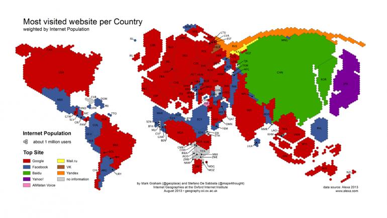 El mapa de las fronteras digitales del planeta: AMPLIAR LA IMAGEN