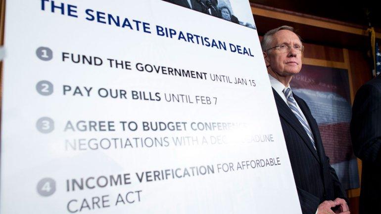 El acuerdo bipartidista, con sus fechas clave, anunciado por el jefe de la bancada demócrata del Senado, Harry Reid