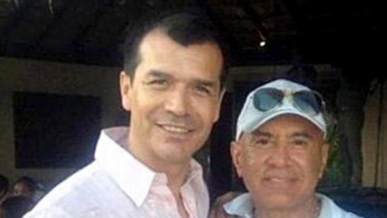 El ex futbolista Jared Borgetti junto a Rafael Arellano Félix
