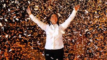 Keiko Fujimori, principal candidata presidencial e hija del dictador Alberto Fujimori