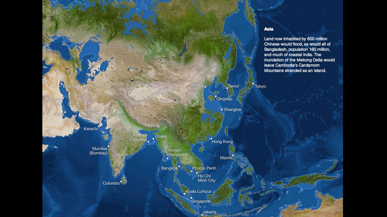 Los efectos del calentamiento global y el derretimiento de los glaciares en Asia