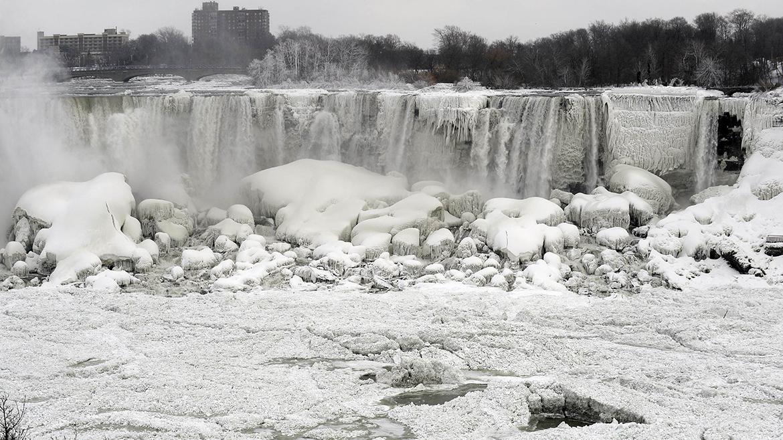 Cataratas del Niágara congeladas!