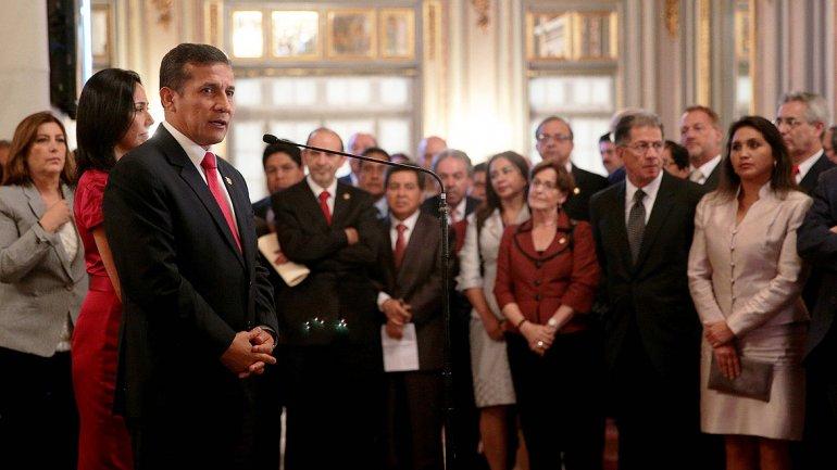 Tras la comunicación del fallo de La Haya, Humala habló desde el Palacio de Gobierno