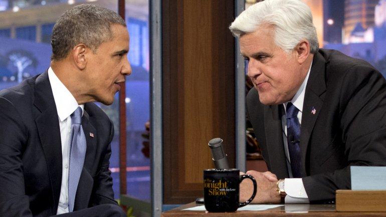 Su entrevista con Barack Obama en octubre de 2013. El presidente se vengó de sus bromas y lo envió como embajador a la Antártida