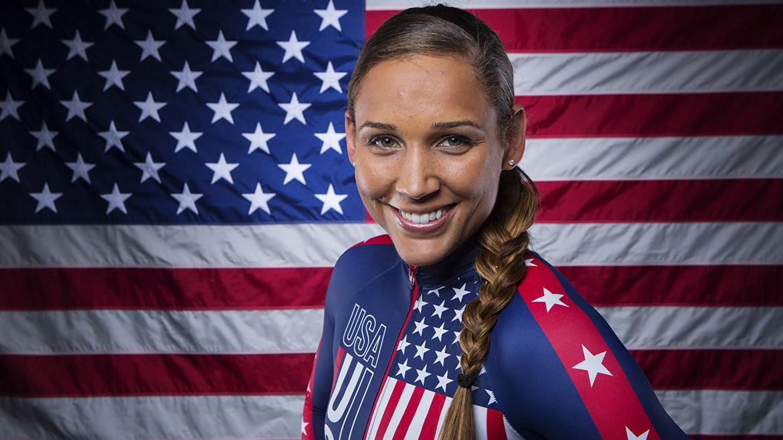 Lolo Jones forma parte del equipo de bobsleigh de Estados Unidos.