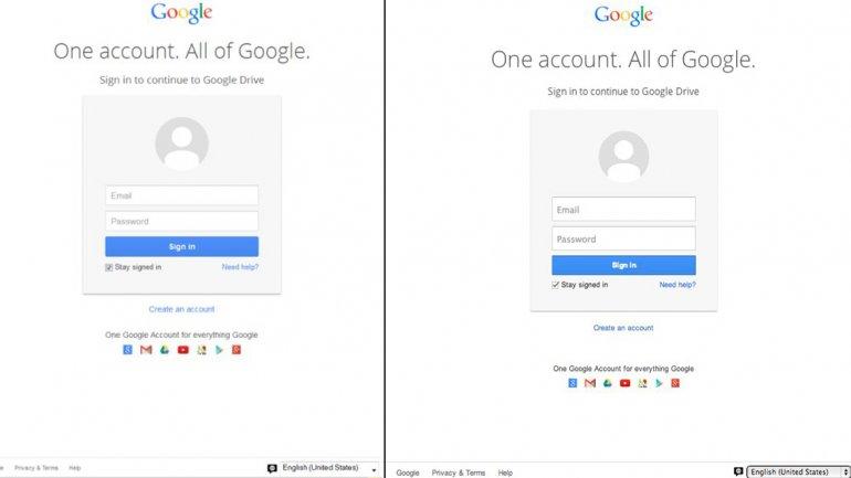 A la izquierda, la pantalla falsa. A la derecha, la verdadera