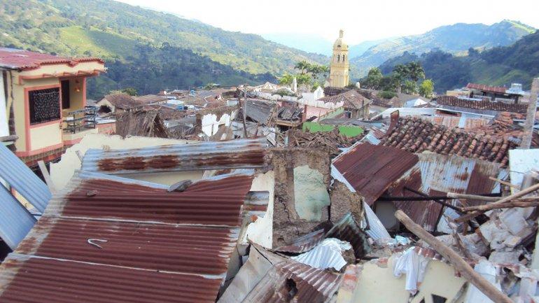 El pueblo de Gramalote, destruido en 2010 por una falla geológica