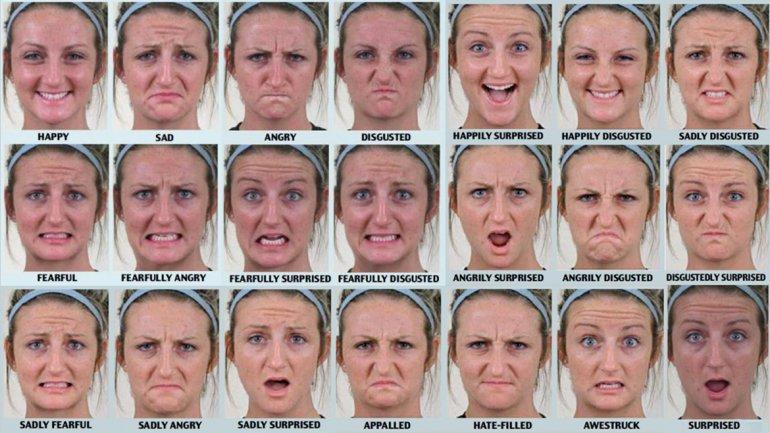 El idioma emocional del rostro humano tiene 21 expresiones ...