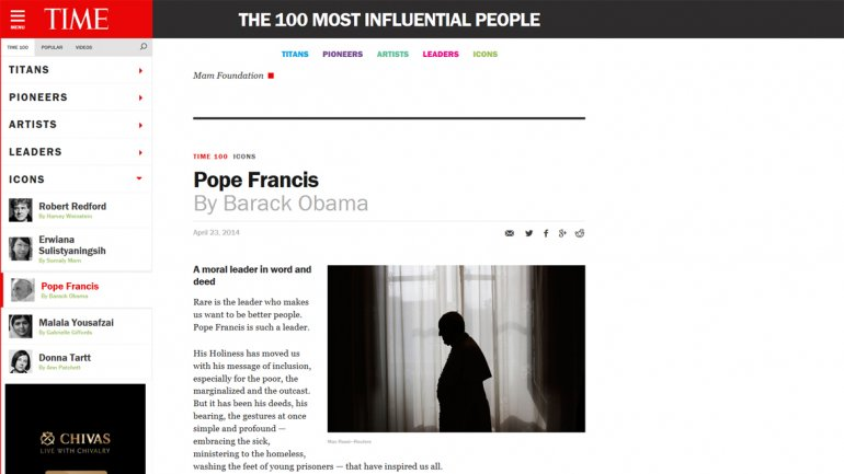 La columna de Barack Obama sobre Francisco en Time