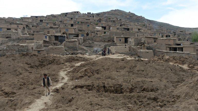 Las casas quedaron enterradas a más de 30 metros de profundidad