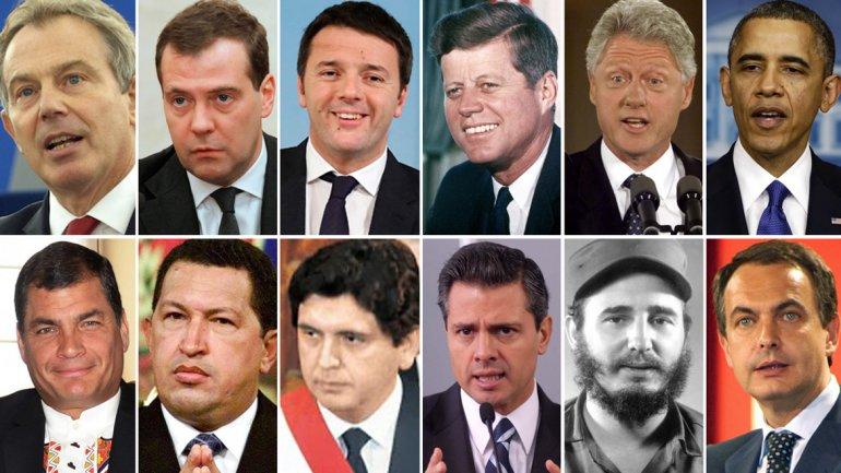 los presidentes actuales: