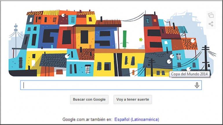 El doodle de Google en honor a las favelas de Brasil