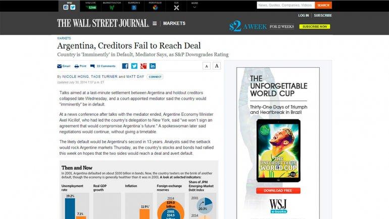 El periódico Wall Street Journal