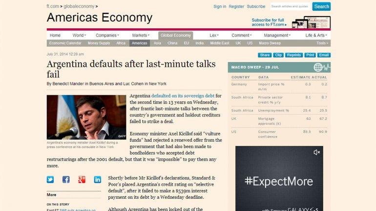 El periódico británico enfocado en negocios y economía Financial Times