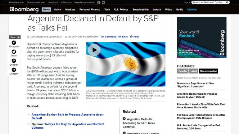 El sitio de noticias económicas Bloomberg