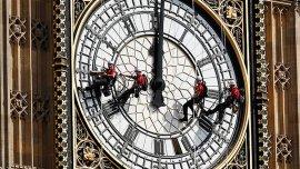 Mantenimiento del Big Ben en Londres