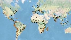 Los puntos de colores indican diferentes tipos de conflictos