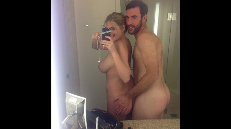 Kate Upton y su novio, el beisbolsta Justin Verlander.