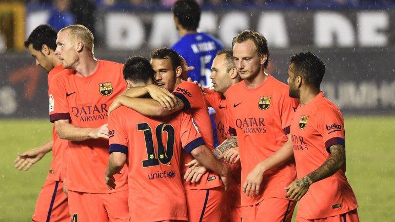 Barcelona goleó al Levante y acrecentó su buen momento