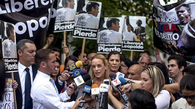 La esposa del ex alcalde Leopoldo López, Lilian Tintori