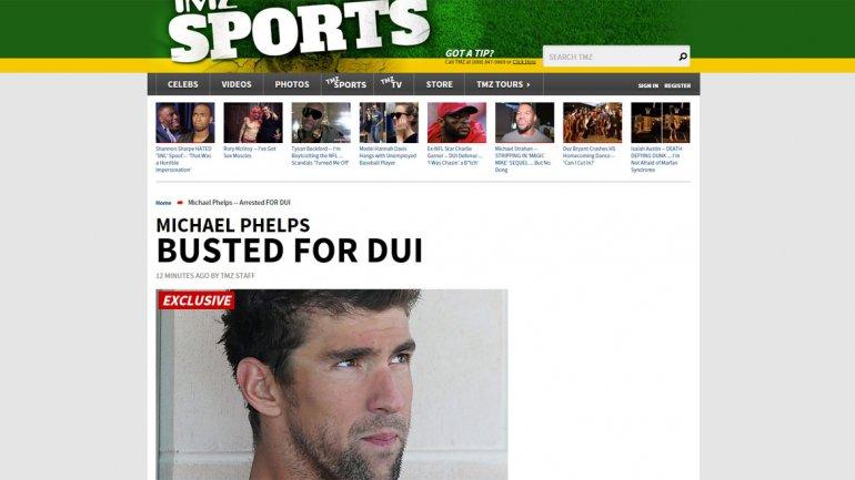 Detuvieron a Michael Phelps en los Estados Unidos