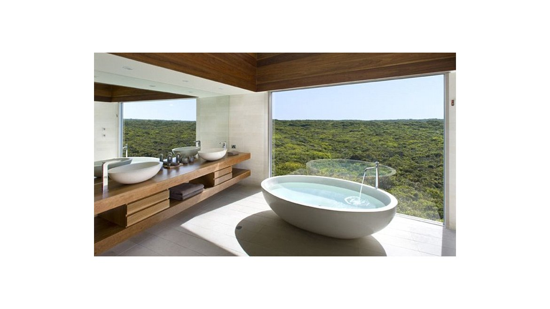 Tinas De Baño Oceanic: Ocean Lodge, en la Isla Canguro de Australia Tiene una tina hecha de