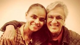 Caetano junto a Marina Silva