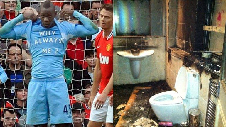 Fotos: el día que Balotelli quemó su mansión de Manchester