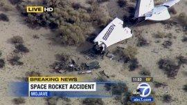 Se estrelló la nave espacial de Virgin Galactic: reportan 1 muerto