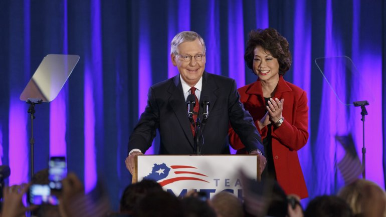 El senador republicano Mitch Mc Connell será el nuevo líder de la Cámara alta de los EEUU
