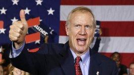 Bruce Rauner, nuevo gobernador de  Illinois, celebra su victoria en Chicago