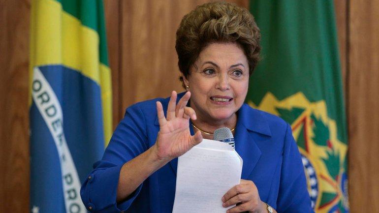 Dilma Rousseff se mostró optimista pese a la dura crisis que atraviesa Brasil