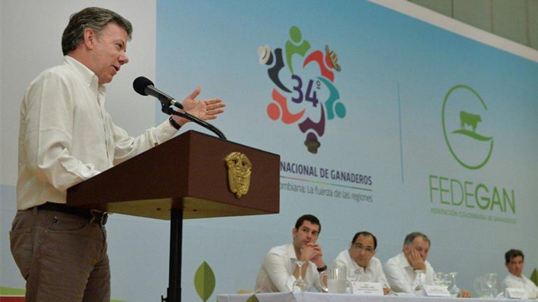 Juan Manuel Santos aseguró que es imposible una paz en Colombia con perdón y olvido
