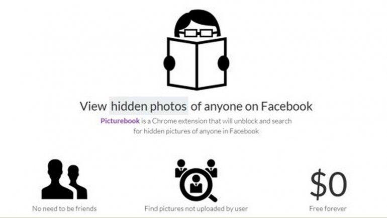 Una aplicación descubre las fotos secretas de usuarios en Fa