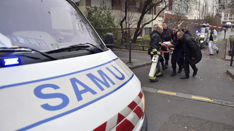 Las ambulancias inundaron la zona del atentado