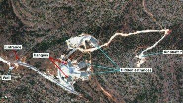 Imagen satelital del emplazamiento sospechoso cerca de Quseir