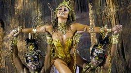 La modelo Juliana Paesthe de la escuela de samba Viradouro