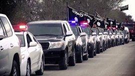 Desfile del Estado Islámico por las calles deBenghazi