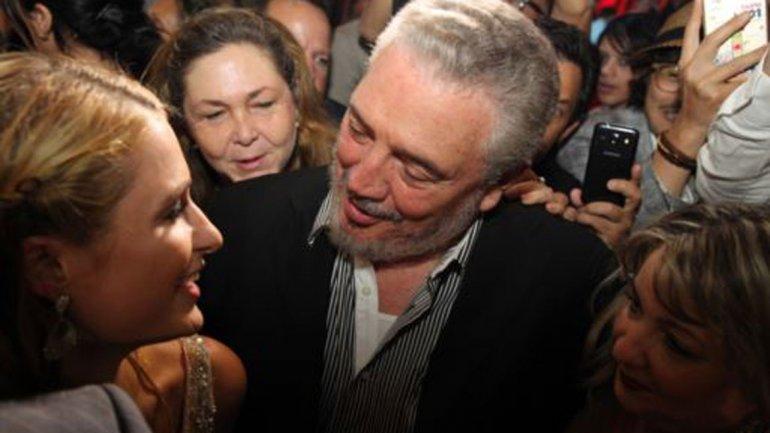 Paris Hilton y Naomi Campbell con Fidel Castro Díaz-Balart 0012268510