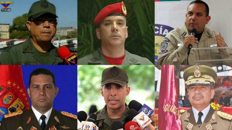 Estos son los siete funcionarios venezolanos sancionados por Estados Unidos