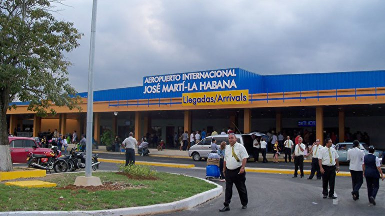El aeropuerto José Martí en La Habana