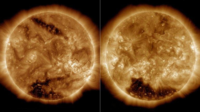 El sol se apaga estas fotos preocupan a los cient ficos for Donde esta el sol