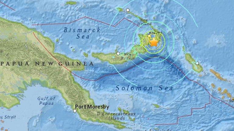 Emiten alerta de tsunami tras un fuerte sismo de 7.7 en Papúa Nueva Guinea