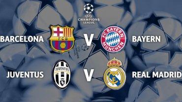 Semifinales de la Champions: Barcelona-Bayern y Juventus-Real Madrid